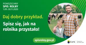 Baner reklamujący Powszechny Spis Rolny