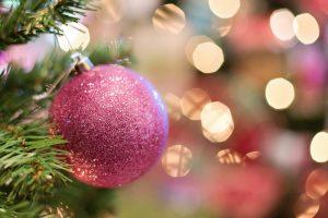 Wolna wysokiej rozdzielczości zdjęcia drzewo, gałąź, kwiat, płatek, uroczystość, dekoracja, żarówka, wakacje, kolorowy, różowy, Boże Narodzenie, drzewko świąteczne, brokat, uroczysty, ornament, Bombka, blask, świąteczna dekoracja, sezonowy, Fotografia makro